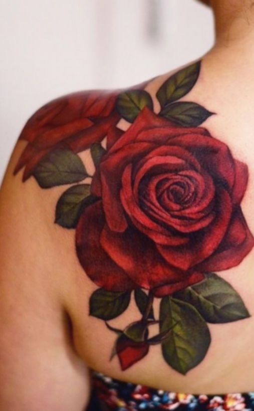 Rose Tattoos On Shoulder Rose Tattoos Auf Der Schulter Tatouages Roses Sur L Epaule Flower Tattoo Shoulder Realistic Rose Tattoo Rose Tattoos For Women