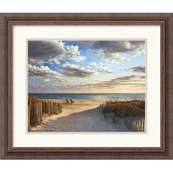 "Wish this was larger!  Amanti Art Sunset Beach by Daniel Pollera Framed Fine Art Print, 17.30"" x 20.30"""