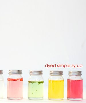 dyed simple syrup