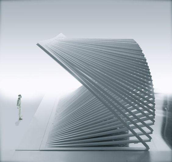 Archimodels robert van embricqs shift merge for Pavilion concept architecture