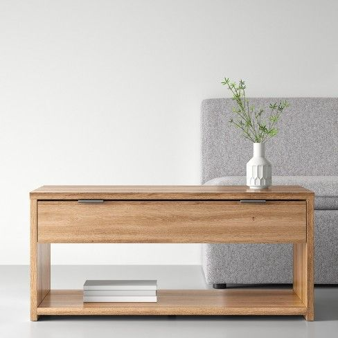 Coffee Table With Drawer Natural Made By Design Target Minimalist Coffee Table Coffee Table With Drawers Coffee Table
