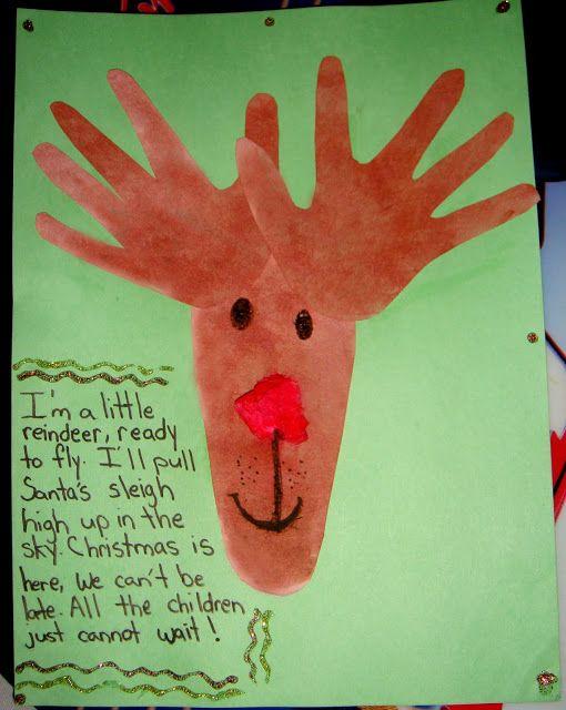 Turkey handprint, Footprint and Reindeer on Pinterest