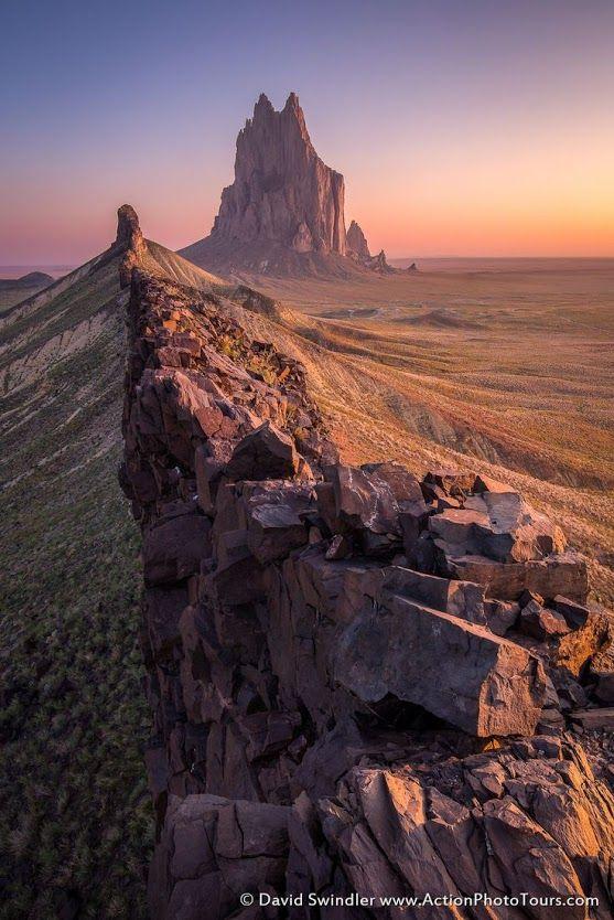 Shiprock From the Ridge by +David Swindler - https://goo.gl/VBlUnF / https://goo.gl/vGZS3t #landscape #Navajo #Shiprock #desert