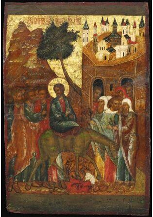 """""""Christ's Entry into Jerusalem,"""" Yaroslavl, early 17th century"""