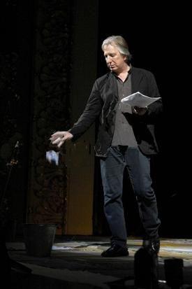 """Alan Rickman reciting """"Hamlet"""" as part of an acting masterclass in Tbilisi, the capital city of Georgia. 2007:"""