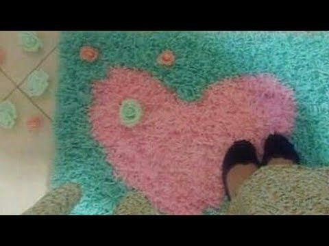 طريقة صنع سجادة بخيوط الصوف و ابرة البيك بيك Diy Tapis Pic Pic Youtube
