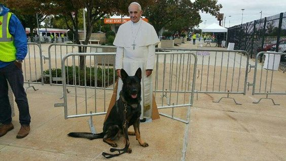 Pope Francis and his American Protector, Officer Ronnie, Philadelphia Police