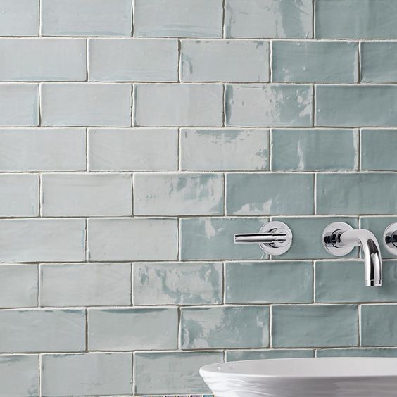 Merola Tile Chester Acqua 3 in. x 6 in. Ceramic Wall Tile (1 sq. ft. / pack)