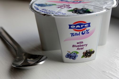 Thanks to Joli I am now addicted to these little Fage/Fruit cups.