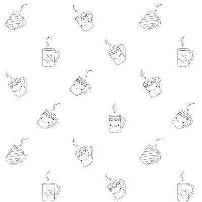 Free printable coloring page : coffee - ausdruckbares Ausmalpapier - freebie | MeinLilaPark – DIY printables and downloads