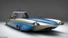 Retro Police Car   Designer: Haim Sarusi   Via: Paperwalker