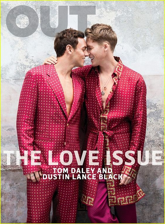 Confession: Tom Daley lifted the lid on his proposal to Dustin Lance Black in a new magazine interview and revealed he had kept the ring box in his underwear before popping the question