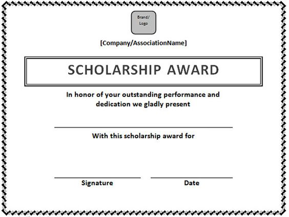 Scholarship Certificate Template in Word Format Microsoft Office – Microsoft Office Certificate Template