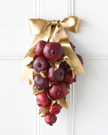 Pomegranate door decoration. So cute for Rosh Hashanah!