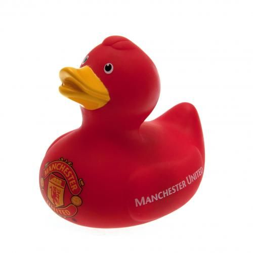 Cute Manchester United rubber duck in club colours with the club crest on it's…