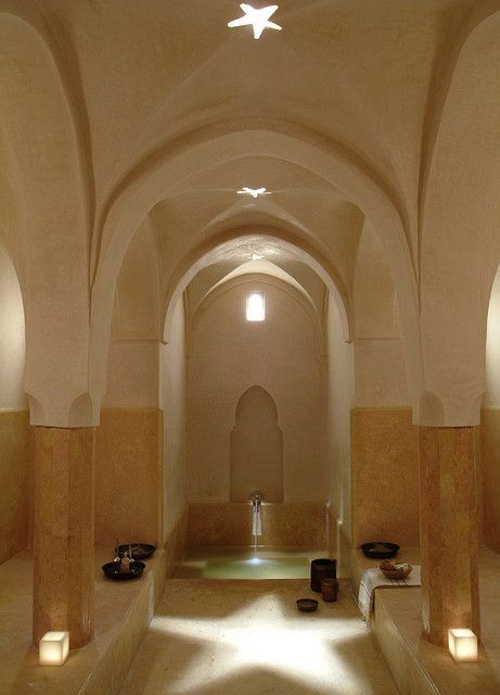 Contemporary Hamam with star reflection