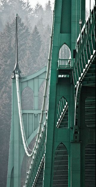 St John's Bridge; Portland, Oregon: