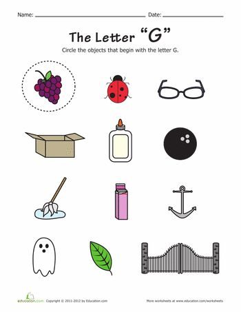 Things that Start with G | Other, Free printables and ...