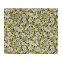 White Daisy Spiral Pattern Throw Blanket> White Daisy Spirals Repeat PatternNew Section> Rosemariesw Digital Designs #Daisy #FloralThrow