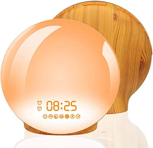 Wake Up Light Alarm Clock Homagical Sunrise Alarm Clock With Sunset Simulation Led Clock With Dual Alarms Soo Light Alarm Clock Sunrise Alarm Clock Led Clock