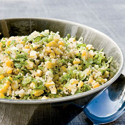 Quinoa, Corn, and Mint Salad - Substitute orzo pasta, faro, or couscous for the quinoa, if you prefer.
