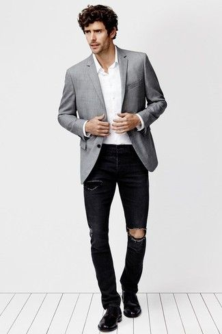 jacket with black jeans - Google 検索