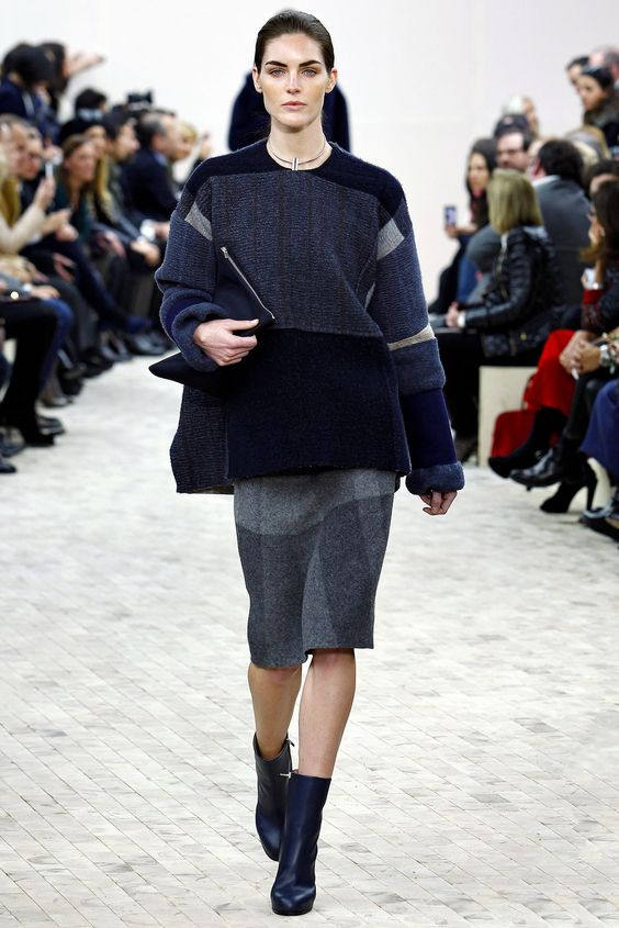 Céline Fall 2013 Ready-to-Wear Fashion Show - Hilary Rhoda (OUI)