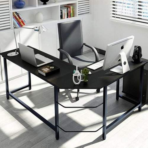 Ebern Designs Tetrick L Shaped Computer Desk Promoted Corner Computer Desk Modern L Shaped Desk L Shaped Office Desk