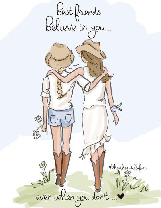 Best Friends Believe In You.... Art for by RoseHillDesignStudio