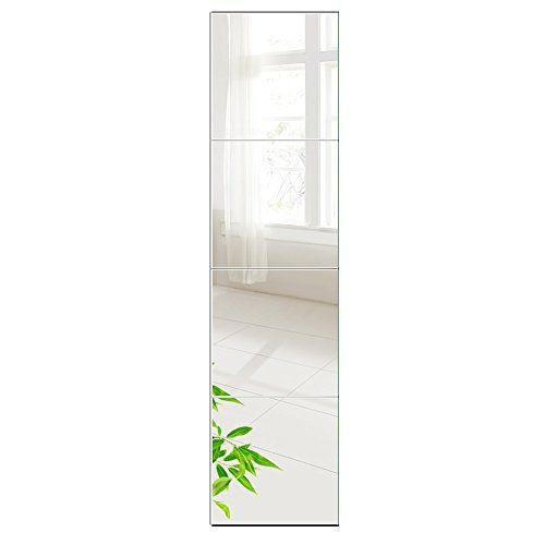 Beauty4u Full Length Tall Mirror Tiles 12 Inch X 4pcs Frameless Wall Mirror Set Hd Vanity M Wall Mirrors Set Modern Mirror Wall Mirror Design Wall