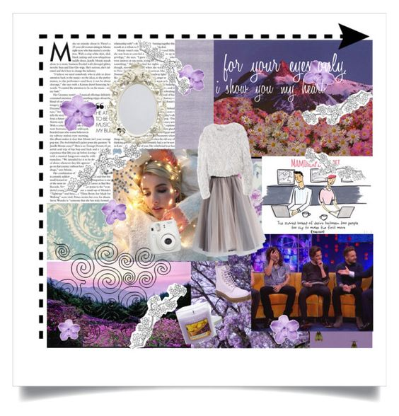"""""""Purple mess"""" by hannahsanson on Polyvore featuring Timorous Beasties, Brewster Home Fashions, Designers Guild, Yankee Candle, Dr. Martens, Chicwish and Kawasaki"""