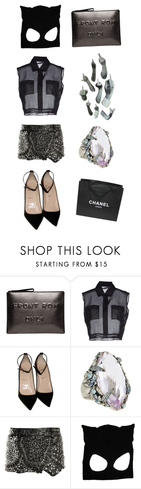 """We are the goon squad"" by honey-bee-mel ❤ liked on Polyvore featuring Chanel, Boyy, Alberta Ferretti, Christian Louboutin, Alexis Bittar and Balmain"