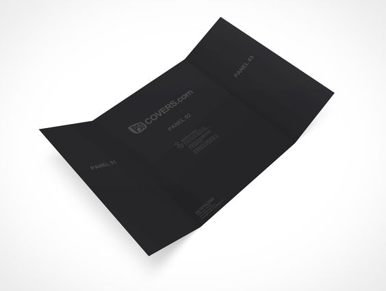GATEFOLD003 is a tri-fold gate brochure that measures 216mm x - gate fold brochure mockup