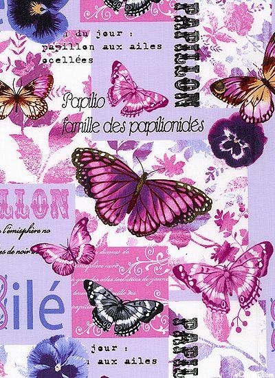 Papillons dans les tons violet