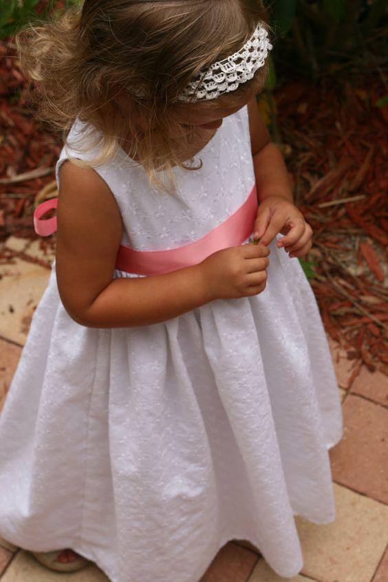 Reserved for Brando Little girls white eyelet by sunshinecreated, $30.00