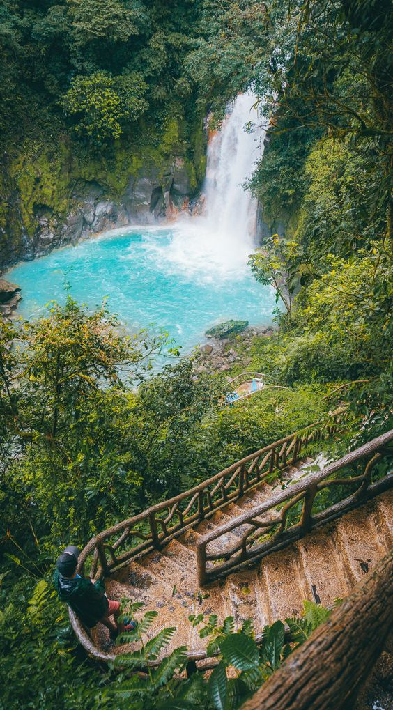 Hiking the beautiful Rio Celeste waterfall trail is one of the best things to see and do in Costa Rica