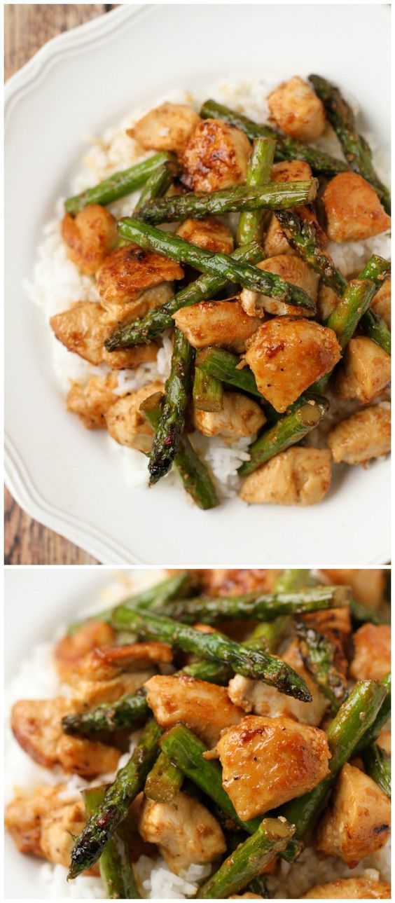 SW Friendly by using frylight instead of Olive Oil.  Lemon Chicken and Asparagus stir fry