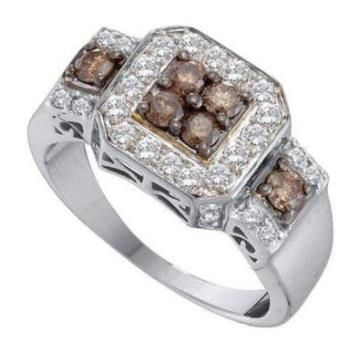 https://ariani-shop.com/1-cttw-14k-white-gold-cognac-brown-diamond-halo-engagement-ring-closeout 1 cttw 14k White Gold Cognac Brown Diamond Halo Engagement Ring CLOSEOUT