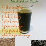 Prune, Flax  and Apple Cider Vinegar Anti-Constipation Juice