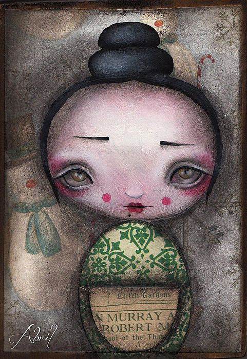 Kokeshi Doll by Abril Andrade Griffith