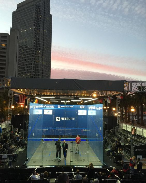 Beautiful evening for Netsuite squash #sanfrancisco #ferrybuilding #aksventures #competition