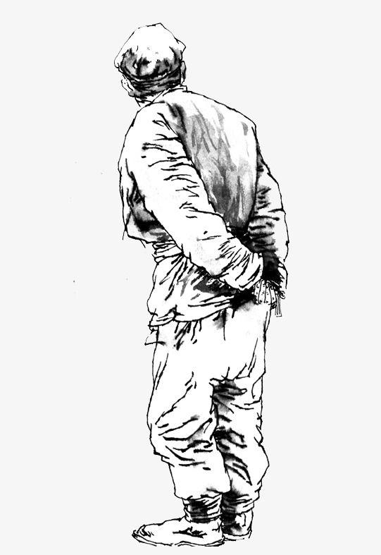 Pencil Sketch Lonely Old Man Man Sketch Pencil Sketch Old Man Walking