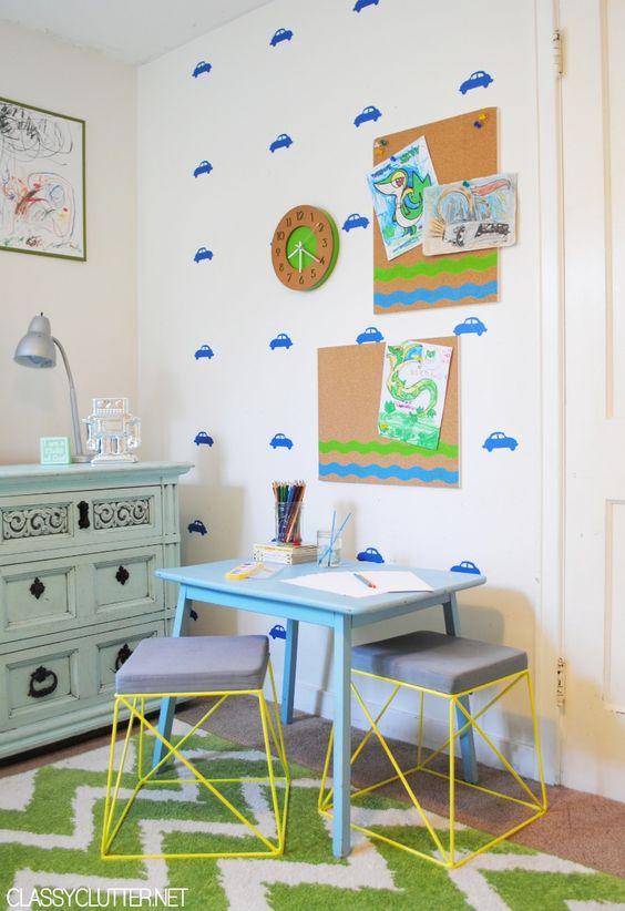 DIY Kid's Art Station - www.classyclutter.net: Kidsroom Art, For Kids, Kids Art Station, Kid Art, Kids Room, Art Diy, Art Center, Diy Kid S, Diy Kids