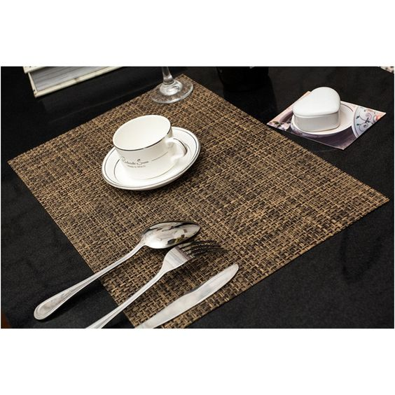 Placemats Zupro 4 Pack Insulation Non Slip Pvc Weave