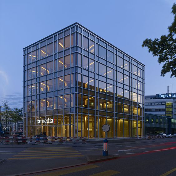 Modern Architecture Zurich shigeru ban: tamedia office building - timber structural system