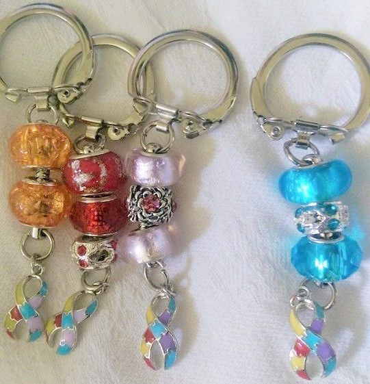 Autism awareness key rings