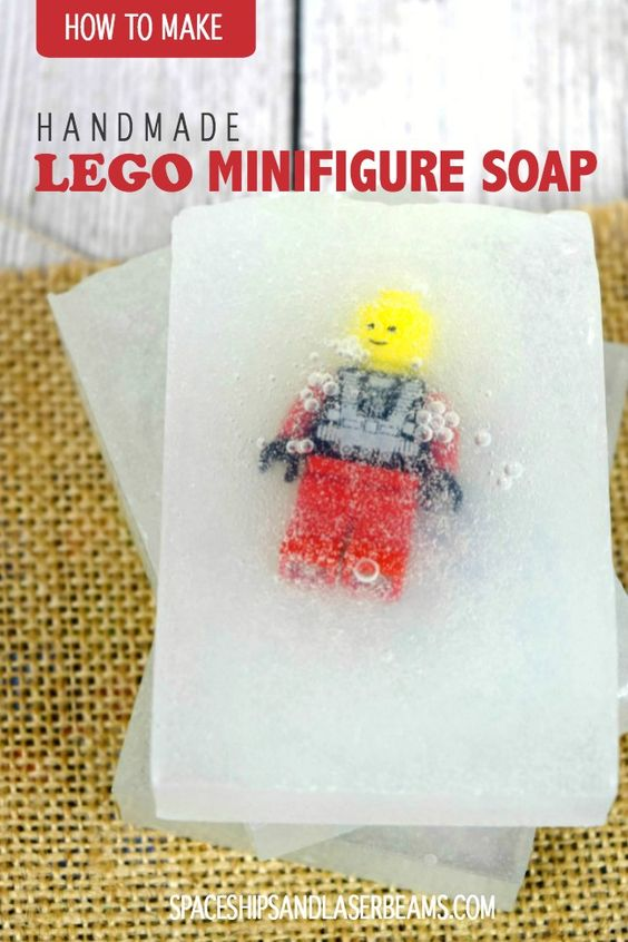 Handmade Lego Minifigure Soap - Spaceships and Laser Beams