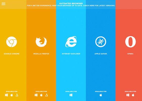 IE6. Drei Zeichen, die den Puls jedes Webentwicklers schlagartig in die Höhe treiben. Wer also seine Website nicht bis zur Steinzeit kompatibel machen möchte, der verweist einfach auf die aktuellen Browser. Und das hier ist eine sehr schöne Art, das zu tun. → Mehr #Design #Webdesign #Ideen & #Inspiration auf pins.dermichael.net ▶▶
