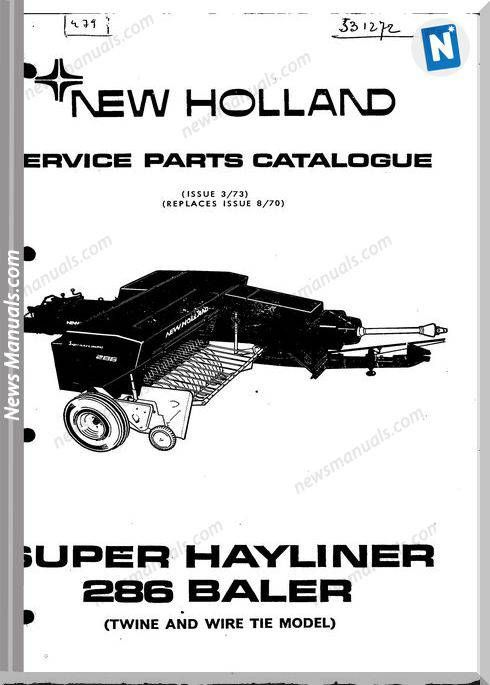 New Holland 286 Part Catalogue With Images New Holland Parts