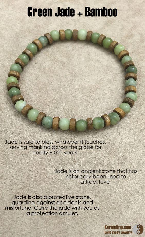 attract jade meditation mala bead bracelet
